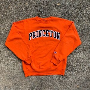 Champion crewneck Princeton men's small orange